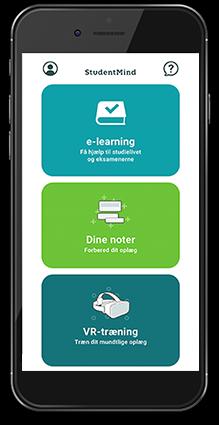 Screenshot af StudyMinds app på en iPhone